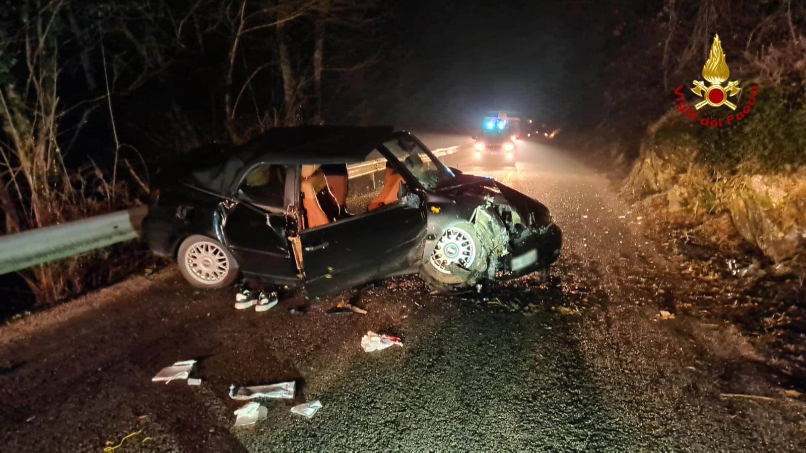 Grave incidente d'auto per quattro giovani a Conco   7 Comuni Online