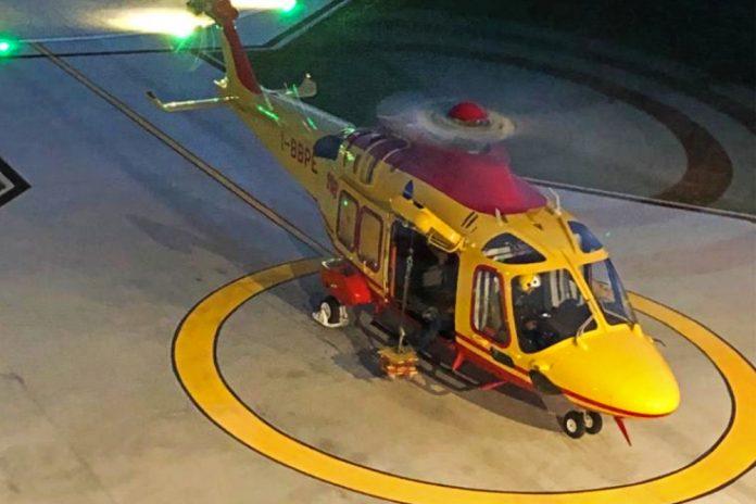 Elisoccorso SUEM 118 volo notturno ULSS